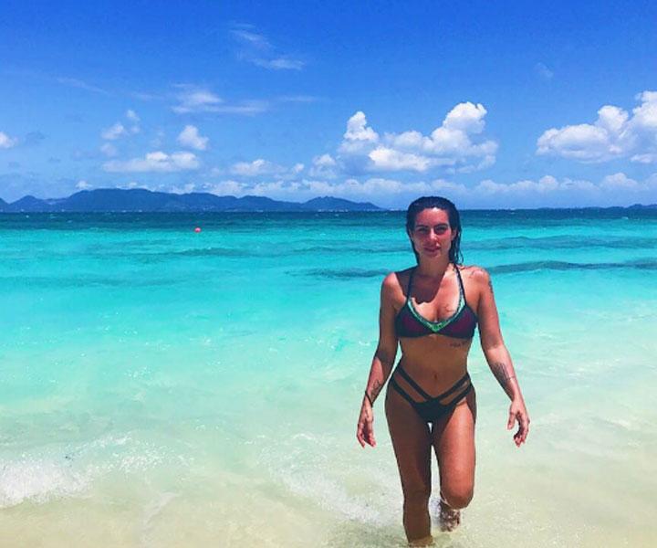 Cleo Pires visita Anguilla