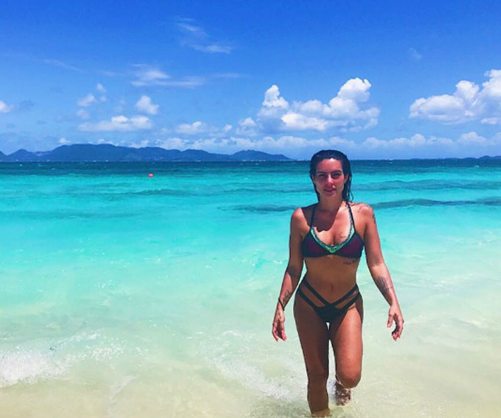 Cleo Pires visits Anguilla